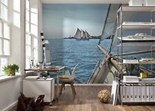 Wallpaper mural photo wall Sailing - holiday on the sea blue decor for adults