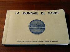 carnet LOT 12 postard CPA CARTE POSTALE la MONNAIE de PARIS atelier MONUMENT
