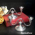 Frank Whiting Talisman Rose Sterling Candelabra Vintage Candle holders Set 2