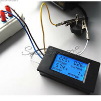 20A AC Digital LCD Panel Power Voltage Meter Monitor Energy Voltmeter Ammeter