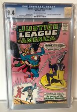 JUSTICE LEAGUE OF AMERICA #32 - CGC 9.4 - 1ST BRAIN STORM - OW/W  PAGES