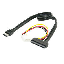 "Power ESATA Combo to SATA 22pin & IDE 5V 12V for 3.5"" 2.5"" Hard Disk Cable 0.5m"