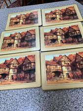 6 VINTAGE  Hunt Table place mats with Cork baking