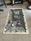 Vintage 2009 Halloween Woven Rug Skeletons In A Dungeon