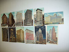 LOT OF 12 TALL CHICAGO BUILDINGS POSTCARDS
