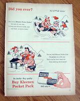 1955 Kleenex Ad by Little LULU Comic Art Ice Skating Theme