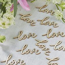 Ginger Ray Love Wooden Table Wedding Or Party Confetti Boho Collection