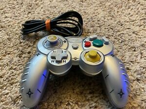 Mad Catz Standard Controller for GameCube. Tested And Works (Clear/Sliver)