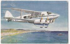 Aviation; De Havilland Express Air Liner Over Malacca Strait PPC, 1937 PMK