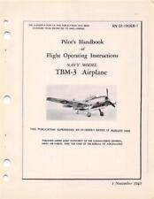 1945 GRUMMAN TBM-3 AVENGER TORPEDO BOMBER PILOTS FLIGHT MANUAL HANDBOOK-CD