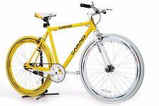 single gear fixie Fixed Gear Bike Bicycle  Yellow bicycle men women
