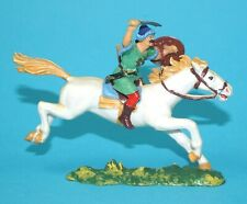 ELASTOLIN 4CM 40MM SERIES No. 8761 MOUNTED HUN HORSE RIDER HUNNE 1960s GERMANY