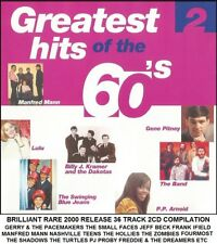 Best Greatest 60's Hits 2CD Hollies Manfred Mann Small Faces Easybeats Jeff Beck