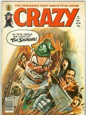 The Shining Jack Nicholson cover Crazy magazine #69 December 1980