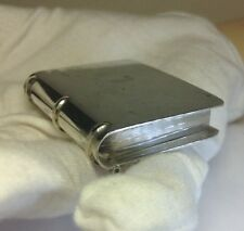 Antique Taxco Solid Sterling Silver Large Book Pill Box Trinket Box Size 2""