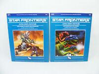 Lot 2 STAR FRONTIERS Alpha Dawn SF1 & SF2 1982 TSR Vintage RPG jeu de rôle livre