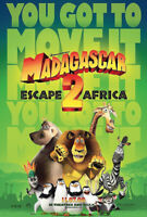 MADAGASCAR 2 MOVIE POSTER Original DS 27x40 Advance Style