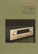 Accuphase c-2000 Catalogo Prospetto Catalogue datasheet brochure