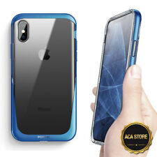 """Case For iPhone XS 2018 / iPhone X 2017 """"Anti-Scratch Clear Back Protector Blue"""