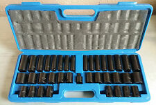 "1/2"" 3/8"" Deep Shallow Impact Socket Set 4 Impact Drivers Wrench Air Tools 38 Pc"
