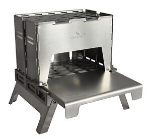 WINNERWELL® Stainless Steel BUSCHRAFT Outdoor Backpack Stove + Table Board/Tray