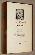 PAUL CLAUDEL JOURNAL I 1904-1932 ED PLEIADE (1968)