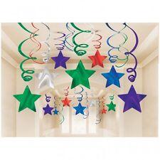30 fach PARTYDEKO Silvester rot  grün blau lila Party Geburtstag  Deko Girlande