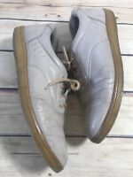 Cradle For Casual Walking Womens Size 10M Beige Leather Casual Loafer Lace Shoes