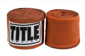 "Title Boxing 180"" Semi Elastic Mexican Handwraps - Burnt Orange"