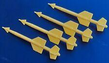 Lot Accessoires Gi Joe 4 Missiles X-30 Conquest Hasbro Vintage B-3 le Conquérant