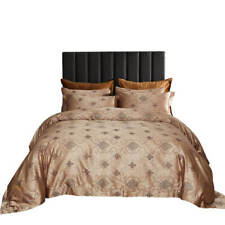 Duvet Cover Set, 6 Pc Fitted Bedding, Luxury Jacquard Cotton, Dolce Dm719Q