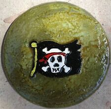 Pirate plaque, stepping stone,  plastic mold, concrete mold, cement, plaster
