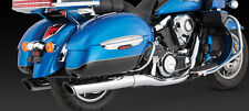KAWASAKI VN 1700 VOYAGER Twin Slash Oval Slip-On Exhausts: VANCE & HINES 18371