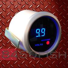 """2"""" Digital Volt Meter Blue LED Display Smoke Lens 12 Volt DC 0-19.9 Silver/White"""