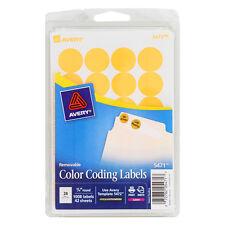 "Avery 5471 Printable Color-Coding Labels 3/4"" dia, Neon Orange Glow, 1008/PK"