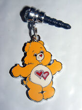 Yellow care bear Double Pink  belly charm anti-dust 3.5mm iphone 4 4s Nooks PDA