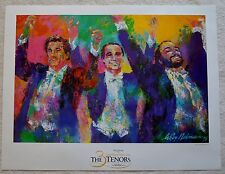 LEROY NEIMAN THE THREE TENORS 1996 ORIGINAL POSTER W/COA 24 1/4 X 31 5/8""