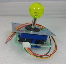 Japan Seimitsu Clear Yellow Joystick With 5 Pin Hanress Arcade Parts LS-32-10