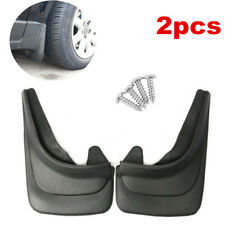 2 Pieces Black ABS Deluxe Molded Splash Guards Mud Flaps For Car Truck Vans