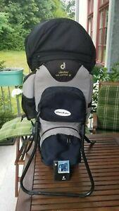 Deuter Kid Comfort II Kindertragerucksack, gebraucht,Sonnen/Regen/Insektenschutz