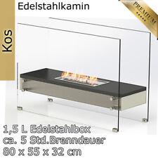 Bioethanol Wand Tisch Stand Kamin Ofen Edelstahl Deko