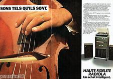 PUBLICITE ADVERTISING 1016  1980   Radiola hi-fi (2p) le rack 3070 tuner ampli