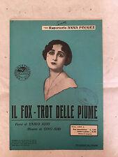 SPARTITO IL FOX-TROT DELLE PIUME ANNA FOUGEZ E. NERI G. SIMI LA CANZONETTA 1925