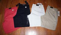 NWT Womens TOMMY HILFIGER Navy Khaki White Red Bermuda Shorts 4 6 8 10 12 14 16