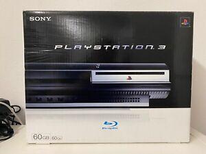 Sony PS3 Playstation 3 60GB Fat Lady CECHC04 OVP Inlay + nur die OVP +