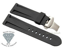 24mm Rubber Straps Band For Panerai Watches with Deployment Clasp Buckle + Tools
