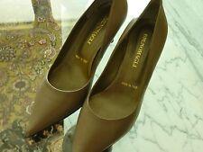 Bruno Magli Italy Ladies Sz. 36.5 6.5 Shoes Heels Gray Leather NEW Neiman Marcus