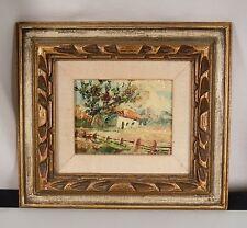 Vintage Miniature Oil Painting Signed- Landscape