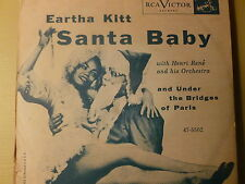 Eartha Kitt-RCA 45 & Picture Sleeve-Santa Baby
