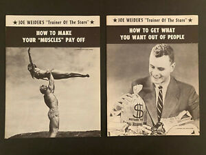 Vintage Joe Weider Special Muscles to Money Courses -1950's - Original!!
